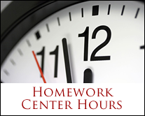 Homework Center Hours