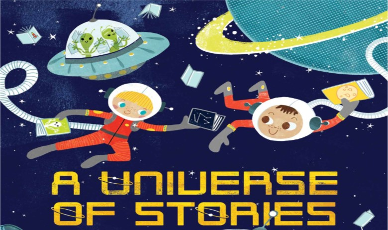 Universe of Stories-children astronauts, spaceships, rockets