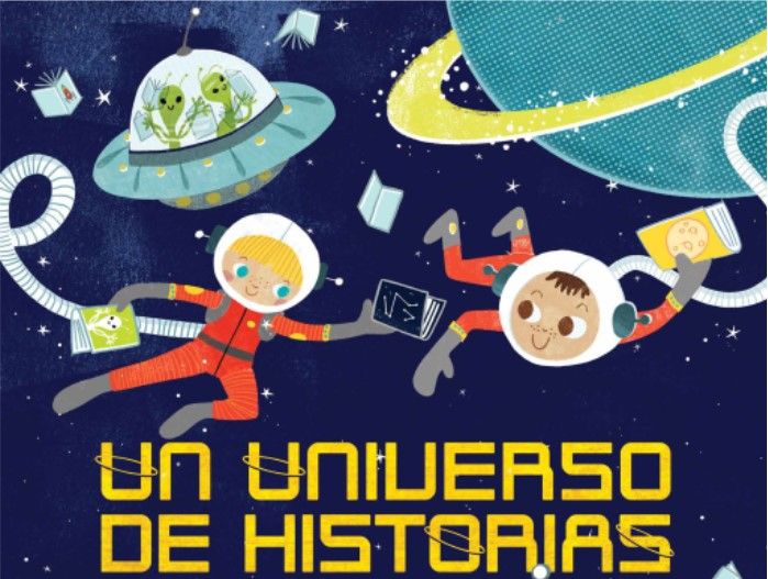 Un Universo de Historias, astronauts, space ships and flying saucer